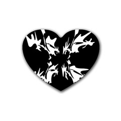 Black and white pattern Heart Coaster (4 pack)