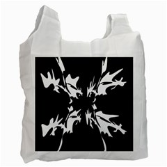 Black and white pattern Recycle Bag (Two Side)
