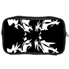 Black and white pattern Toiletries Bags 2-Side