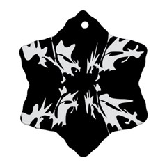 Black and white pattern Snowflake Ornament (2-Side)