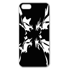 Black and white pattern Apple Seamless iPhone 5 Case (Clear)