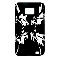 Black and white pattern Samsung Galaxy S II i9100 Hardshell Case (PC+Silicone)