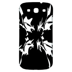 Black and white pattern Samsung Galaxy S3 S III Classic Hardshell Back Case