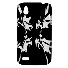 Black and white pattern HTC Desire V (T328W) Hardshell Case