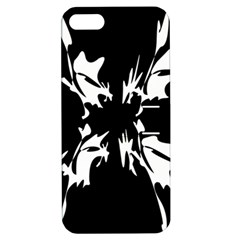 Black and white pattern Apple iPhone 5 Hardshell Case with Stand