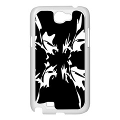 Black and white pattern Samsung Galaxy Note 2 Case (White)