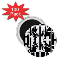 Black and white abstraction 1.75  Magnets (100 pack)