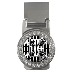 Black and white abstraction Money Clips (CZ)
