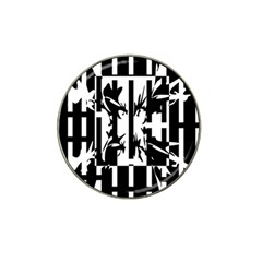 Black and white abstraction Hat Clip Ball Marker (4 pack)