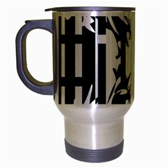 Black and white abstraction Travel Mug (Silver Gray)