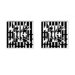 Black and white abstraction Cufflinks (Square)