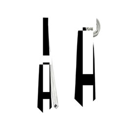 Black and white abstraction Neckties (One Side)