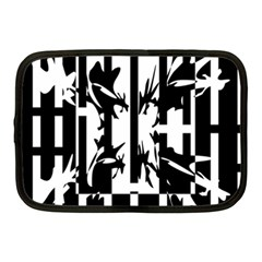 Black and white abstraction Netbook Case (Medium)