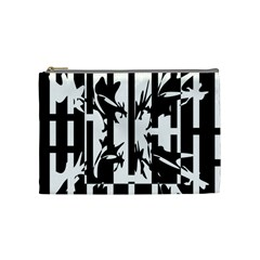 Black and white abstraction Cosmetic Bag (Medium)