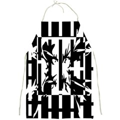 Black and white abstraction Full Print Aprons