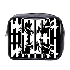Black and white abstraction Mini Toiletries Bag 2-Side