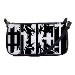 Black and white abstraction Shoulder Clutch Bags