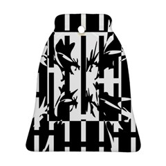 Black and white abstraction Ornament (Bell)