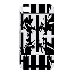 Black and white abstraction Apple iPhone 4/4S Hardshell Case
