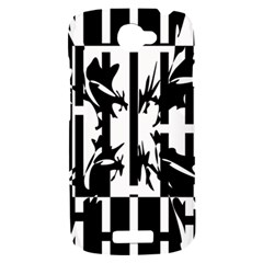 Black and white abstraction HTC One S Hardshell Case