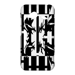 Black and white abstraction HTC Droid Incredible 4G LTE Hardshell Case
