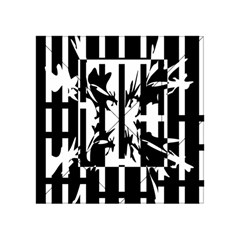 Black and white abstraction Acrylic Tangram Puzzle (4  x 4 )