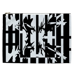 Black and white abstraction Cosmetic Bag (XXL)