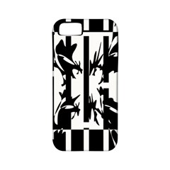 Black and white abstraction Apple iPhone 5 Classic Hardshell Case (PC+Silicone)