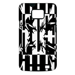 Black and white abstraction Samsung Galaxy S II i9100 Hardshell Case (PC+Silicone)