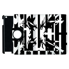 Black and white abstraction Apple iPad 2 Flip 360 Case