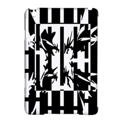 Black and white abstraction Apple iPad Mini Hardshell Case (Compatible with Smart Cover)