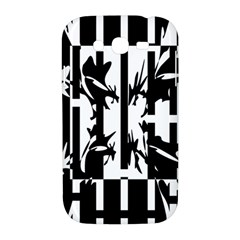 Black and white abstraction Samsung Galaxy Grand DUOS I9082 Hardshell Case