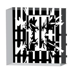 Black and white abstraction 5  x 5  Acrylic Photo Blocks