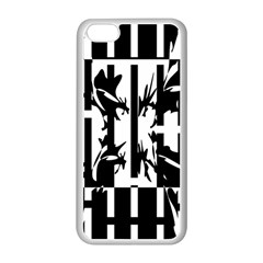 Black and white abstraction Apple iPhone 5C Seamless Case (White)