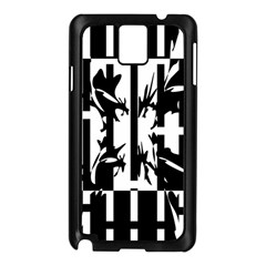Black and white abstraction Samsung Galaxy Note 3 N9005 Case (Black)