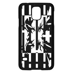 Black and white abstraction Samsung Galaxy S5 Case (Black)