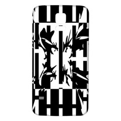 Black and white abstraction Samsung Galaxy S5 Back Case (White)