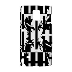 Black and white abstraction Samsung Galaxy Note 4 Hardshell Case