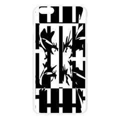 Black and white abstraction Apple Seamless iPhone 6 Plus/6S Plus Case (Transparent)