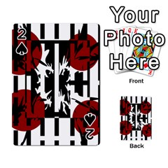 Red, black and white elegant design Playing Cards 54 Designs
