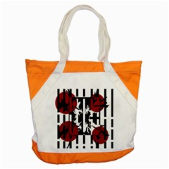 Red, black and white elegant design Accent Tote Bag