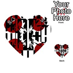 Red, black and white elegant design Playing Cards 54 (Heart)