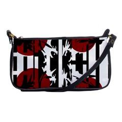 Red, black and white elegant design Shoulder Clutch Bags