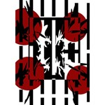 Red, black and white elegant design Get Well 3D Greeting Card (7x5) Inside
