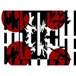 Red, black and white elegant design Get Well 3D Greeting Card (7x5) Back