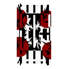 Red, black and white elegant design Apple iPod Touch 4
