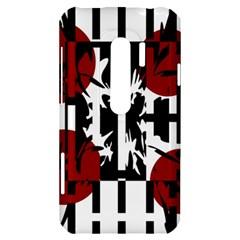Red, black and white elegant design HTC Evo 3D Hardshell Case