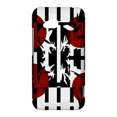 Red, black and white elegant design HTC Droid Incredible 4G LTE Hardshell Case