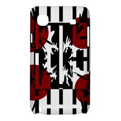Red, black and white elegant design Samsung Galaxy SL i9003 Hardshell Case