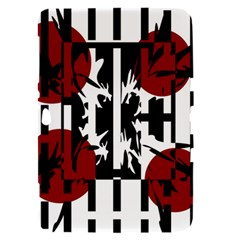Red, black and white elegant design Samsung Galaxy Tab 8.9  P7300 Hardshell Case